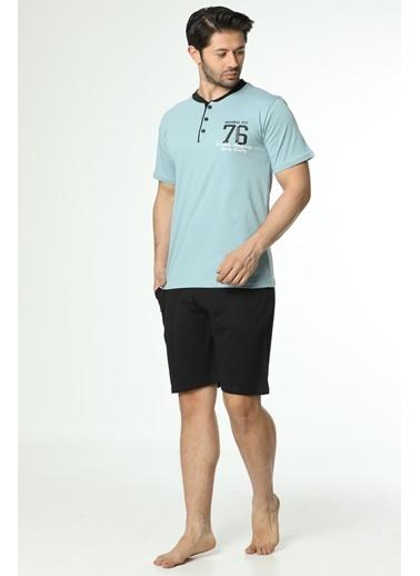 Akbeniz Erkek 3'Lü Pijama Takım 6539 Mavi